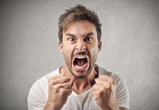 Wściekły mężczyzna