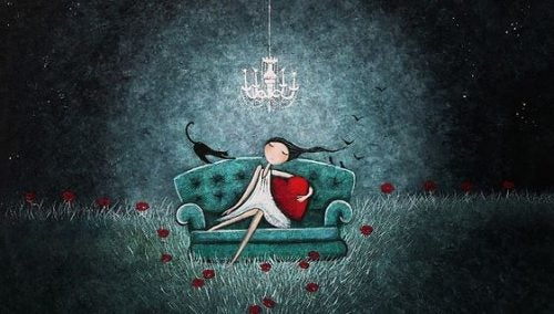 Dziewczyna na sofie