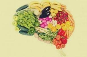 Mózg i witaminy w warzywach.