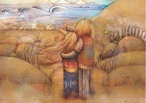 Okazanie miłości - para patrzy na morze