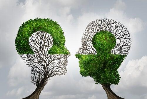 Ludzie-drzewa - niczym dwa puzzle.