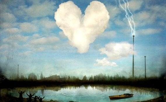 serce z chmur