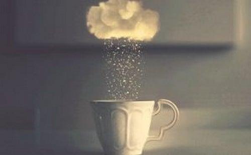 Szklanka z chmurą - wycieńczenie psychiczne