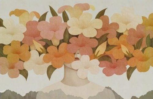 Twarz za kwiatami