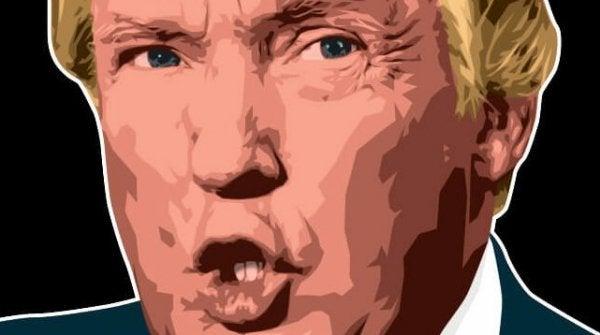 Portret Donalda Trumpa.