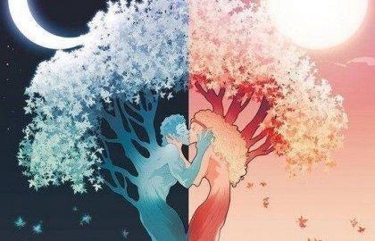 Drzewo w kształcie całującej się pary