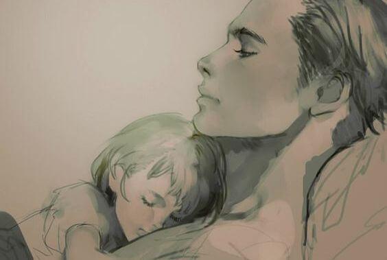 Dziecko śpi z mamą