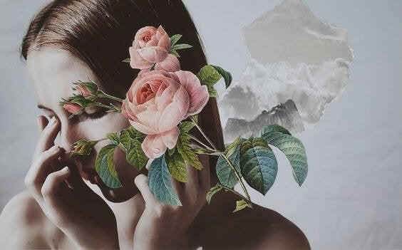 Dziewczyna i róże.