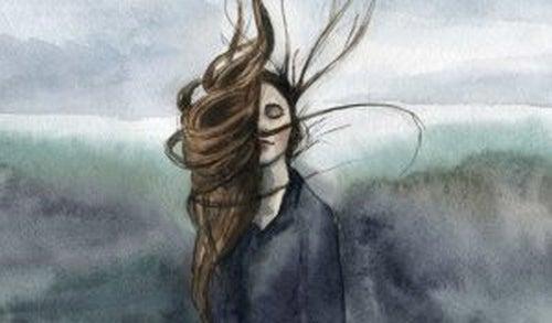 dziewczyna z rozpuszczonymi włosami - zemsta to nie najlepsze wyjście