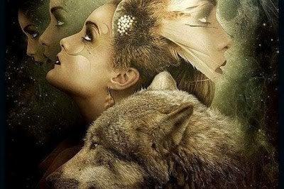 Kobieta i wilk.