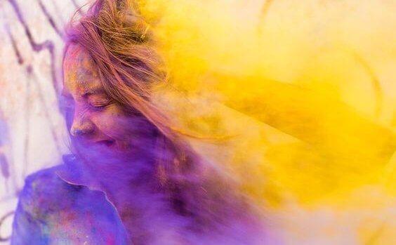 kolorowa dziewczyna