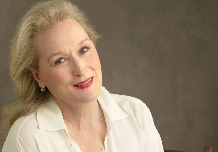 Meryl Streep w białej koszuli