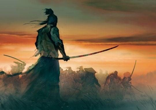 samuraj podczas bitwy