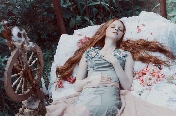Śpiąca królewna.