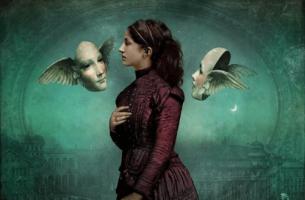 Syndrom oszusta - kobieta i maski.