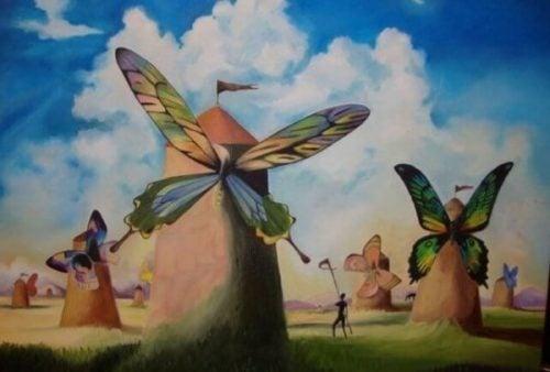 Wiatraki z motylami zamiast skrzydeł