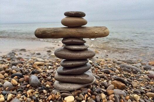 wieża z kamieni