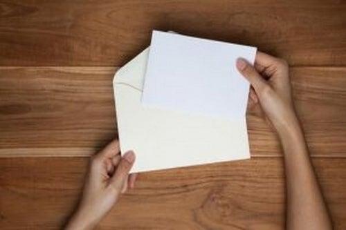 Zaproszenie - pusta kartka