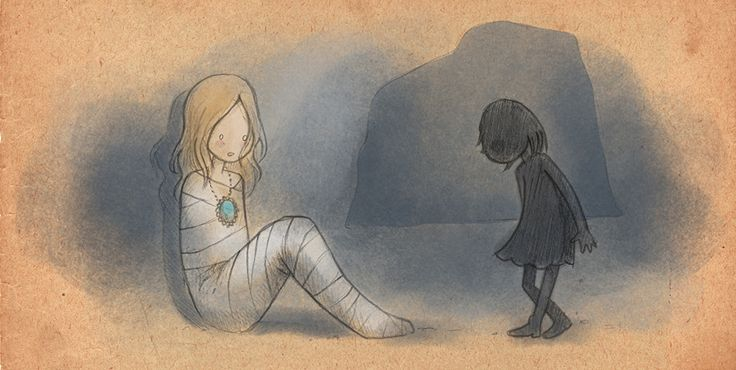Związana dziewczynka