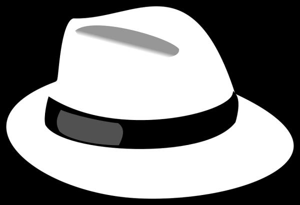 Biały kapelusz.
