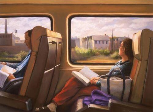 Czytanie w pociągu