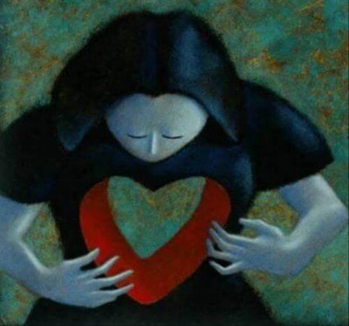 Kobieta z pustką w sercu.