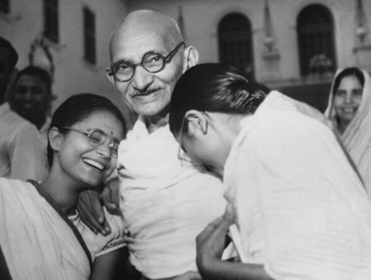 Gandhi ze swoją rodziną