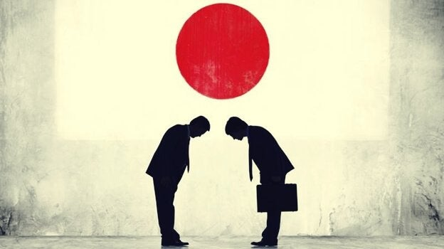japońskie przywitanie