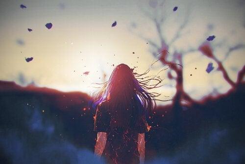 Kobieta i horyzont.