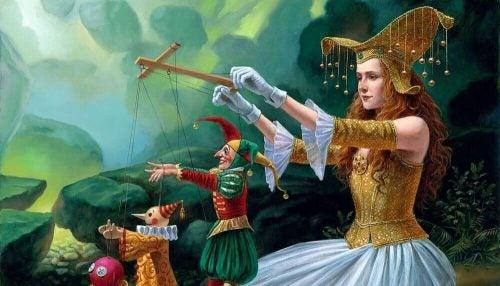 Kobieta i marionetki