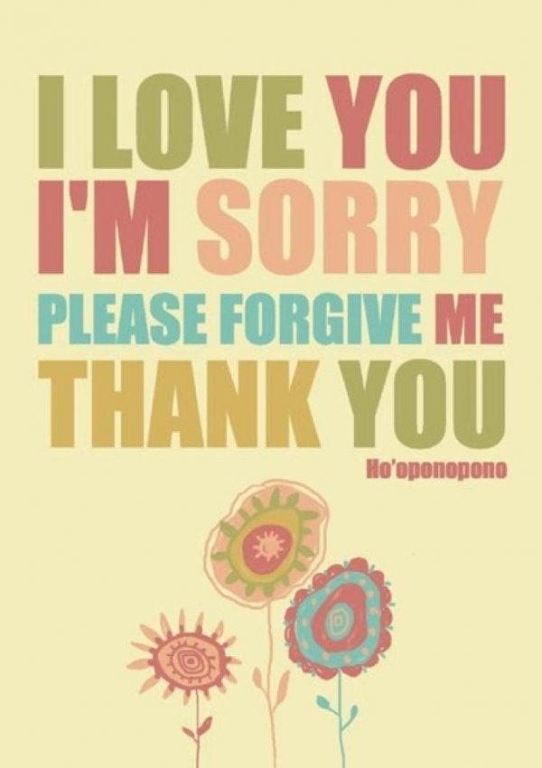 Dziękuję, wybacz, kocham cię - Ho'oponopono