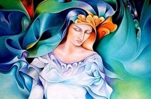 Kolorowa kobieta