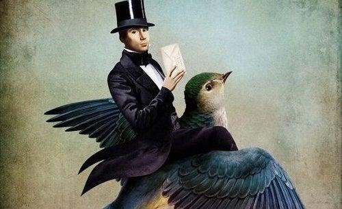 Mężczyzna trzyma poufny list