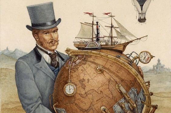 Mężczyzna trzyma globus i myśli jak nie marnować czasu