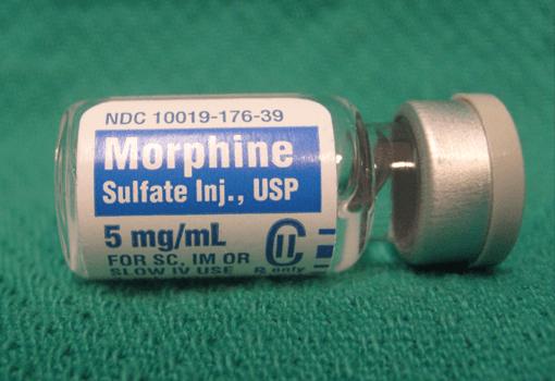 Fiolka z morfiną.