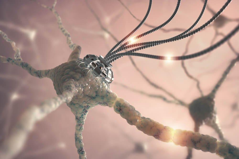 Synapsy w mózgu.