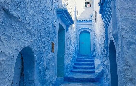 niebieska wioska