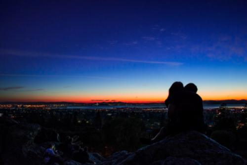 Niski popęd seksualny - para o zachodzie słońca