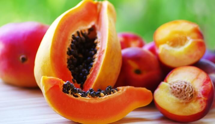 papaja i brzoskwinia