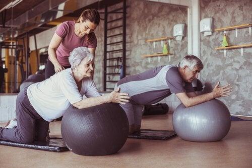 Pilates dla osób starszych.