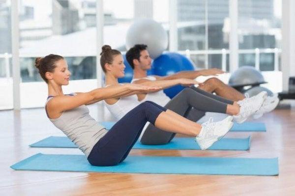 Ćwiczenia pilates.