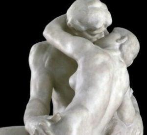 Pomnik całujących się osób