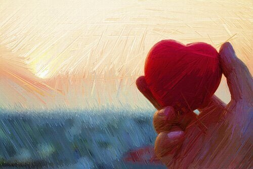ręka z sercem