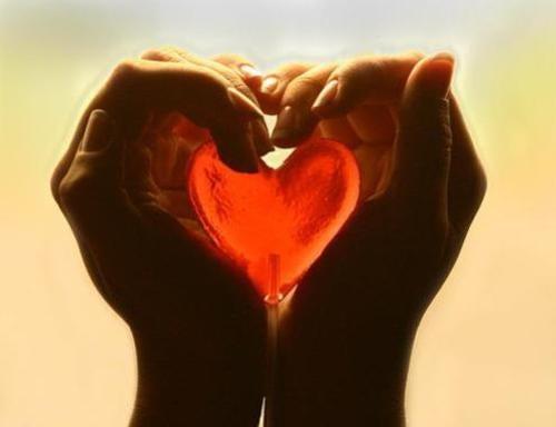 Serce w dłoniach.
