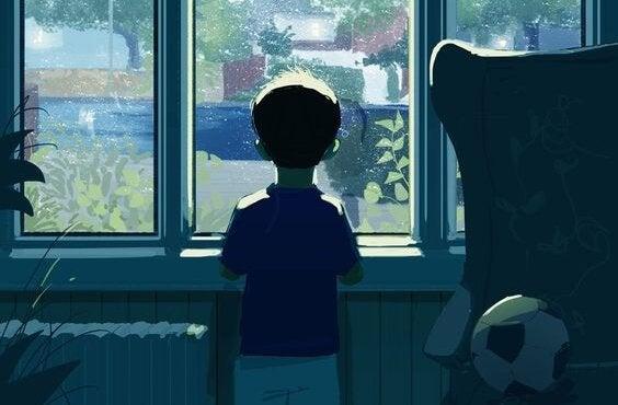 Dziecko w oknie.