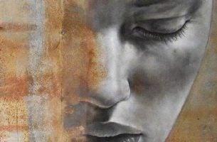 Cierpienie innych - smutna twarz