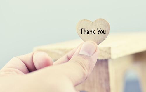 Dziękuję - siła słów