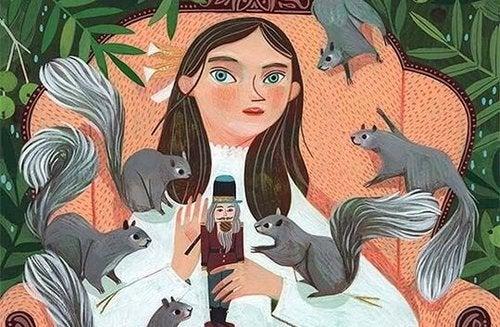 Dziewczyna z wiewiórkami