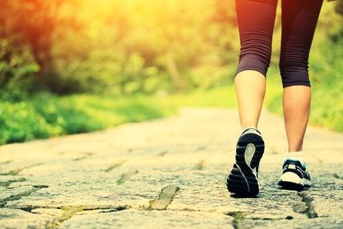 kobiece nogi w sportowych butach