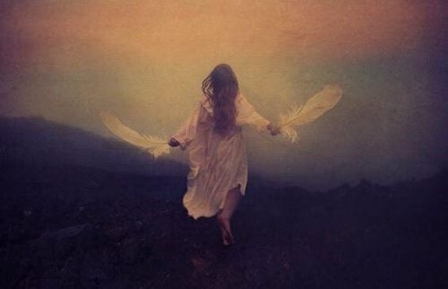 Kobieta ze skrzydłami - własny wszechświat